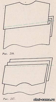 Фігурну кокетку і підкладку до неї з єднують зі спинкою стачного швом  потім  настрачівают з лицьової сторони однієї або двома рядками. 20ab0ba8892c2
