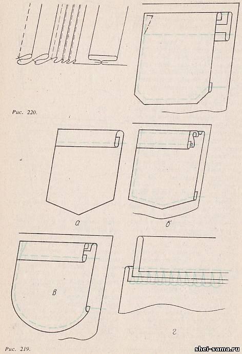 Клапан або листочку лицьовою стороною накладають на виворіт верхнього зрізу  кишені 0e440bb6eee7c
