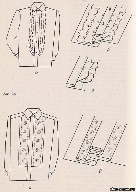Технологічна послідовність обробки сорочок - Азбука шиття - Все про ... 7fb82fb355f68