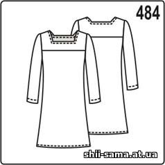 В цьому платті відмінність у формі вирізу кокеток і довгих рукавах. Крім  того 2ab1d97b9c9d4